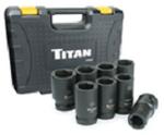 "Titan 8pc. 1"" Drive Metric Deep Impact Socket Set"