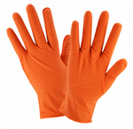 West Chester 7 Mil Industrial Grade Powder Free Textured Orange Nitrile Gloves