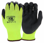 West Chester Barracuda 10 Gauge Yellow A8 Cut Resistant Black Nitrile Foam Coated Gloves