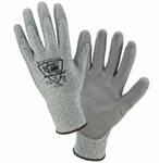 West Chester Barracuda 13 Gauge HPPE Gray Speckle PU Palm Coated Gloves