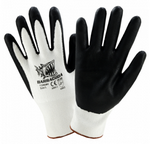 West Chester Barracuda Black Foam Nitrile Dipped White HPPE Cut Resistant Gloves