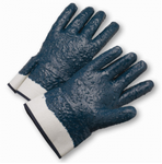 West Chester Black Fully Coated Jersey Lined Rough Finish Nitrile Gloves