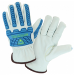 West Chester Cut Resistant Impact Protected Sheepskin Leather Driver Gloves