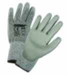 West Chester Gray Lycra HPPE Fiber & PU Dipped Coated Gloves