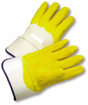 West Chester Jersey Lined Crinkle Finish Latex Palm Coated Gloves (Safety Cuff)