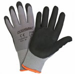 West Chester PosiGrip™ 15 Gauge Black Microfoam Nitrile Palm Dipped Grey Nylon Gloves