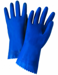 West Chester Posigrip 18 Mil Premium Unlined Blue Latex Chemical Resistant Gloves (Individually Packed)