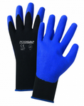West Chester PosiGrip™ Air Injected Blue PVC Palm Coated Black Nylon Gloves
