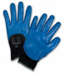 West Chester PosiGrip™ Blue Flat Nitrile 3/4 Dipped Black Nylon Gloves