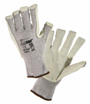 West Chester PosiGrip™ Leather Palm Grey String Knit Gloves