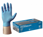 West Chester PosiShield™ 4 Mil Industrial Grade Lightly Powdered Blue Nitrile Gloves