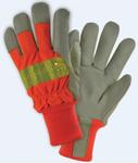 West Chester Premium Grain Orange Hi-Viz Pigskin Leather Gloves