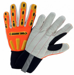 West Chester R2 Hi-Viz Orange Corded Palm Safety Rigger High Dexterity Gloves