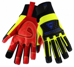 West Chester R2 Red/Yellow Safety Rigger Reinforced Comfort High Dexterity Gloves