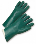 West Chester Standard Green Jersey Lined PVC Finished Chemical Resistant Gloves