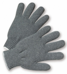 West Chester Standard Grey Polyester/Cotton String Knit Gloves
