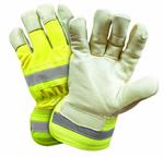 West Chester Yellow Insulated Hi-Viz Premium Pig Skin Palm Coated Gloves