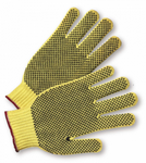 West Chester Yellow PVC Fully Dotted 100% Kevlar® Gloves