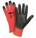 West Chester Zone Defense Black Nitrile Foam Palm Coated Red Nylon Gloves