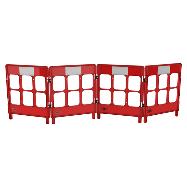 WorkGate® Injection Molded Plastic Mini barrier c/w Engineering Grade Reflective Stripping