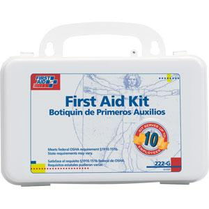 10-Person, 63-Piece Bulk First Aid Kit w/ Gasket, Plastic