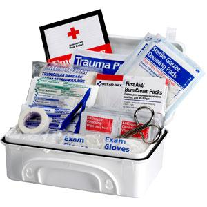 10-Person, 96-Piece Contractor First Aid Kit, Plastic