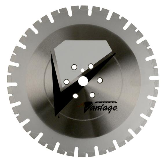 12 x .125 x 1 Diamond Vantage Wall Saw Blade: X1 Series