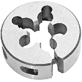 12-24 Round Adjustable Die, 13/16 OD, HSS