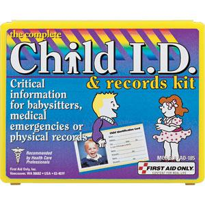 13-Piece Child ID & Records Kit, Plastic