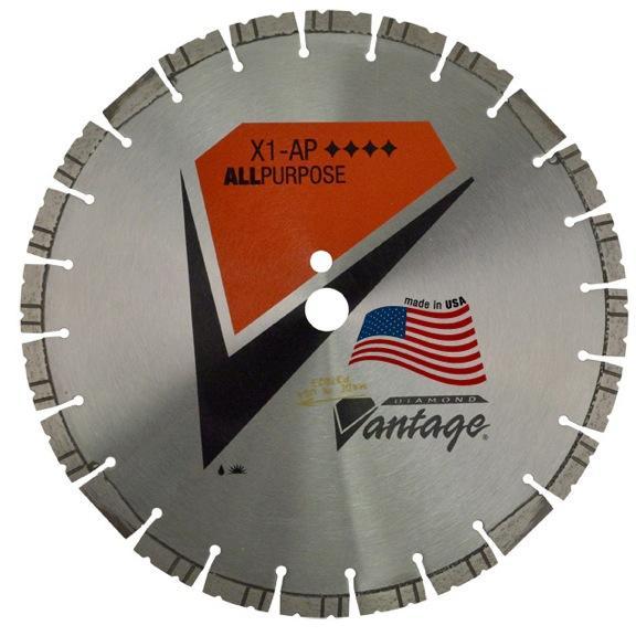 14 X .125 X 1/20mm Diamond Vantage: LX1-AP Series- Heavy Duty Grade All Purpose Saw Blade