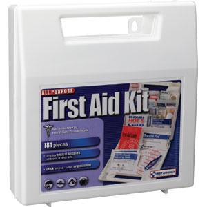 181-Piece All-Purpose First Aid Kit, Plastic