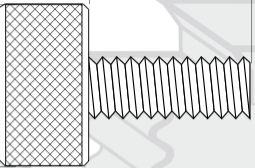 18/8 Stainless Steel Knurled Thumb Screw