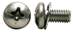 18/8 Stainless Steel Screw/410 Stainless Steel Internal Washer Phillips Pan Head Sem Screws
