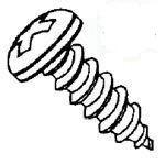 1A-Recess Pan Head Steel Zinc Plated Type AB Sheet Metal Screws