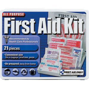 21-Piece Travel First Aid Kit, Plastic
