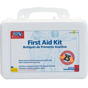 25-Person, 106-Piece Bulk First Aid Kit w/ Gasket, Plastic