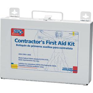 25-Person, 179-Piece Contractor First Aid Kit, Metal