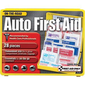 28-Piece Auto First Aid Kit, Plastic Case