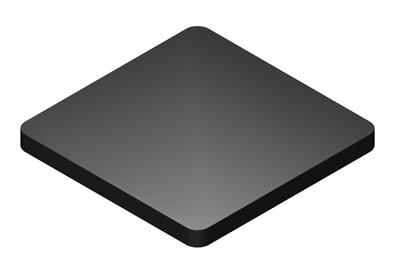 3 x 3 x 3/8 Flat Plate Plastic Shims