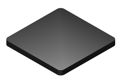 3 x 4 x 1/8 Flat Plate Plastic Shims