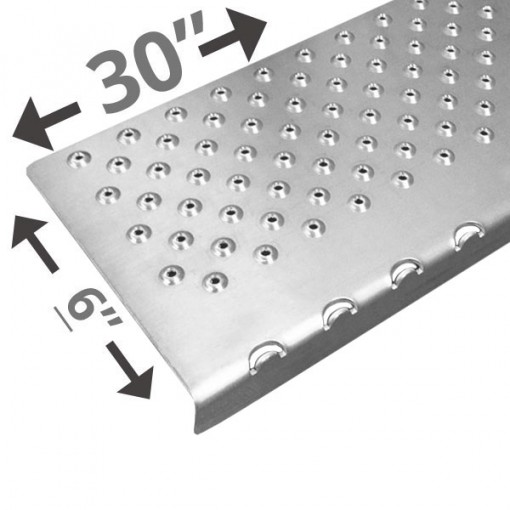 30 Non Slip Nosing 6in wide – Plain Silver