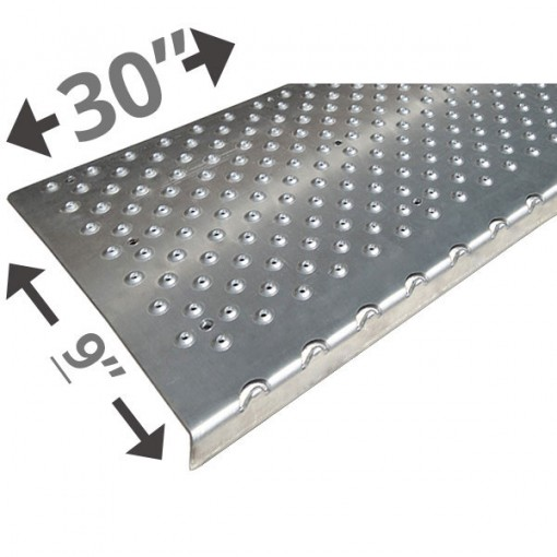 30 Non Slip Nosing 9in wide – Plain Silver