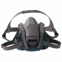 3M 6502QL Rugged Comfort Quic-Latch Half-Facepiece Reusable Respirator, Medidum