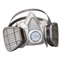 3M Half Facepiece Disposable Respirator Assembly 5201, Organic Vapor Respiratory Protection, Medium