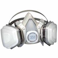 3M Half Facepiece Disposable Respirator Assembly 52P71, Organic Vapor/P95 Respiratory Protection, Medium