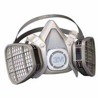 3M Half Facepiece Disposable Respirator Assembly 5303, Organic Vapor/Acid Gas Respiratory Protection, Large