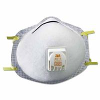 3M Particulate Respirator 8516, N95, with Nuisance Level Acid Gas Relief , 10 per Box