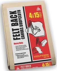 4' X 15' FELT-BACK HEAVY DUTY CANVAS DROPCLOTH