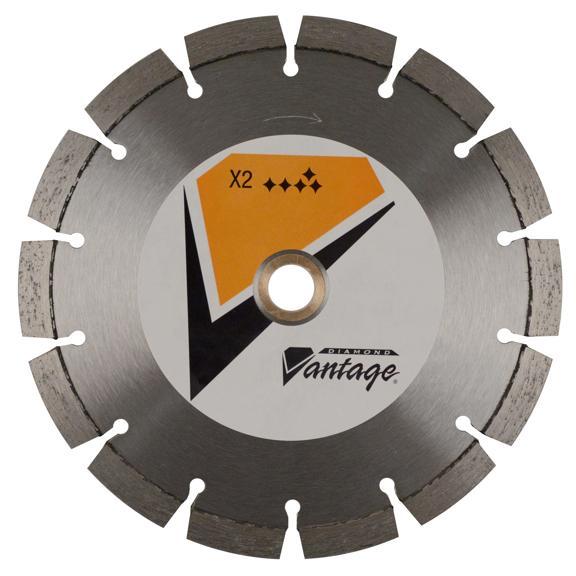 4 x .500 x 7/8-5/8 Diamond Vantage Walk Behind Saw Blade: X2-1 Series