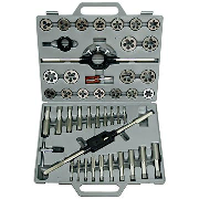 Qual Tech 40 Pc. Metric Tap & Die Set, 3mm to 12mm with High Speed Round Dies
